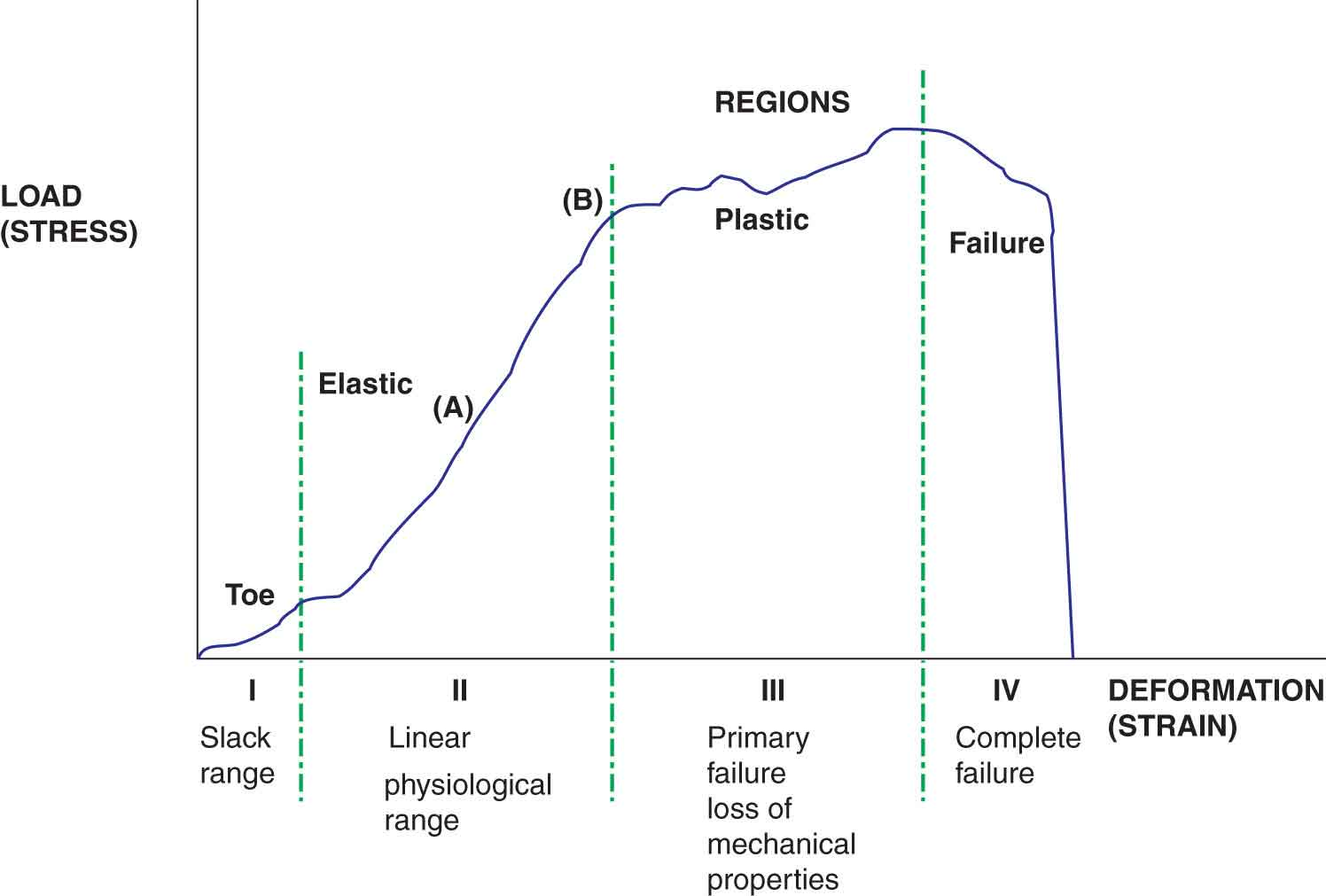 Tissue behavior injury healing and treatment musculoskeletal key figure 2 2 the stressstrain curve pooptronica Image collections